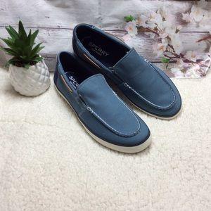 Sperry Mainsail Blue Slip-On Men Shoes Sz 12